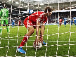 Thomas Müller brachte den FC Bayern bei Hoffenheim in Front.