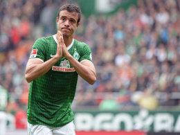 """""""Bitte, bitte, nimm mich mit"""": Ob Franco di Santo in Schalke dabei ist, entscheidet Trainer Robin Dutt kurzfristig."""