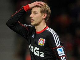 Stefan Kießling kann es nicht fassen: Leverkusen unterlag Frankfurt.