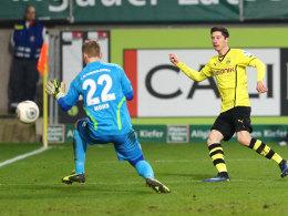 Treffsicher auch auf dem Betzenberg: Robert Lewandowski erzielt gegen David Hohs das 3:1.