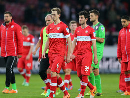Stuttgarter Profis nach dem 1:2 gegen Hertha BSC