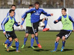 Rafael van der Vaart am Dienstag im HSV-Training