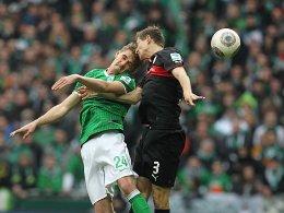 Auf Augenhöhe: Im Spiel zwischen Bremen und Stuttgart gab es keinen Sieger.