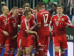 Auch Leverkusen war am Ende kein Gegner: Der Bayern-Express könnte sein Ziel Meisterschaft schon kommende Woche erreichen.