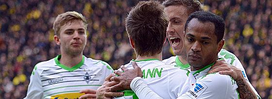 Die Gladbacher überraschen mit einem 2:1 in Dortmund.