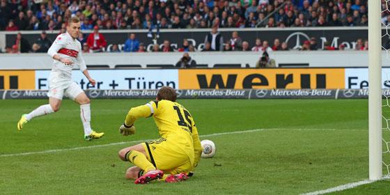 Maxim macht den Siegtreffer gegen den HSV.
