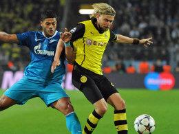 Erst Vorbereiter des Dortmunder Tores, dann verletzt ausgewechselt: Linksverteidiger Marcel Schmelzer.