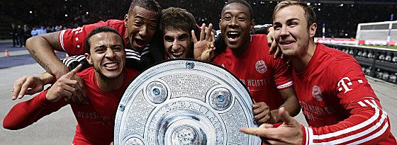 Thiago, Boateng, Martinez, Alaba und Götze (v.l.n.r.)