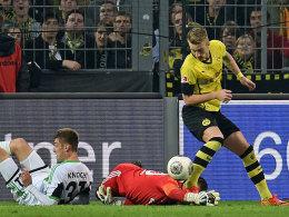 Siegtorschütze: Reus machte gegen Wolfsburg das 2:1, Keeper Grün hatte den Ball fallen lassen.