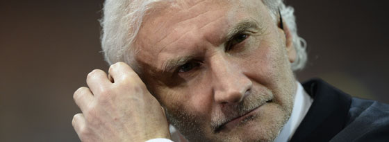 Rudi Völler zeigte sich über Schiedsrichter Bastian Dankert ziemlich angefressen.