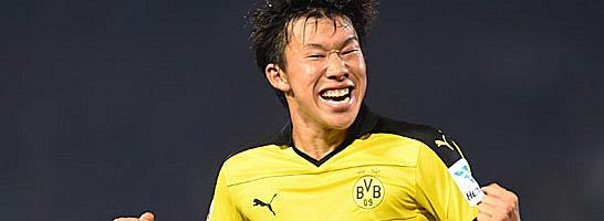 Seltener Jubel im BVB-Trikot: Mitsuru Maruoka.