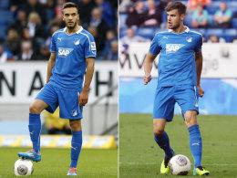 Kenan Karaman (li.) und Stefan Thesker wechseln im Sommer von Hoffenheim nach Hannover.