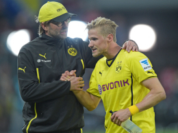 Dortmunds Trainer Jürgen Klopp und Oliver Kirch.