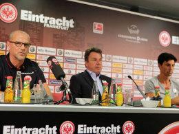 Thomas Schaaf, Heribert Bruchhagen und Bruno Hübner