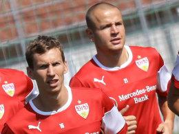 Florian Klein (vorne) und Adam Hlousek