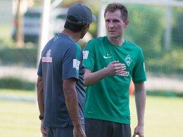 Trainer Robin Dutt und Izet Hajrovic