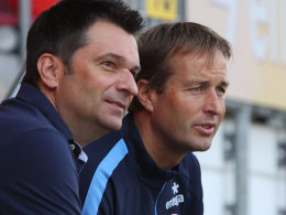 Manager Christian Heidel und Trainer Kasper Hjulmand