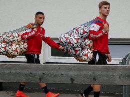 Zwei große Hoffnungsträger des VfB: Timo Werner (re.) und Arianit Ferati.