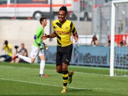 Dortmunder Strahlemann: Pierre-Emerick Aubameyang ist in beeindruckender Form.
