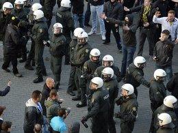 Polizei beim Derby zwischen Dortmund und Schalke