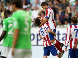 Atletico Madrids Tiago und Koke hatten einigen Grund zum Jubeln.