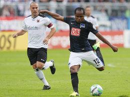 Mit seinem starken linken Fuß erzielte Ronny im DFB-Pokal das 1:0.