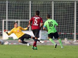 Der zuletzt verletzte Raphael Schäfer stand wieder im Tor, doch beim Elfmeter war er machtlos.