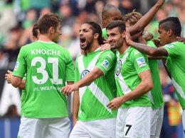 Wolfsburg jubelt - auch dank Rodriguez, der doppelt traf.