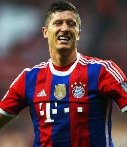 Klappt's mit Saisontreffer Nummer zwei? Bayern M�nchens Angreifer Robert Lewandowski.