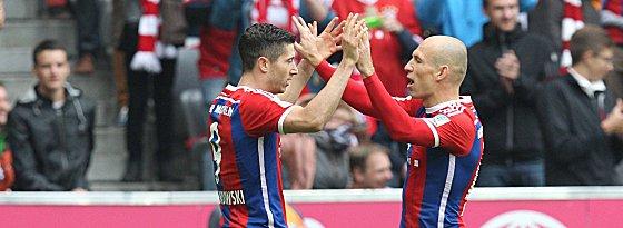 Robert Lewandowski und Arjen Robben