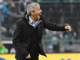 Lucien Favre beim Gladbacher 1:1 gegen Mainz am Sonntag