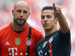 Pepe Reina (li.) und Thiago.