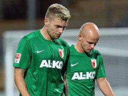 Alexander Esswein (l.) und Tobias Werner am Donnerstag in Aalen