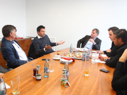Zu Gast beim kicker: Mainz-Manager Christian Heidel stellte sich den Fragen der Redakteure.