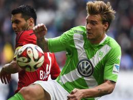 Null Tore, null Assists: Wolfsburgs Angreifer Nicklas Bendtner ist noch nicht richtig eingebunden.