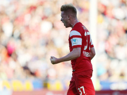 Sebastian Kerk jubelt gegen Wolfsburg