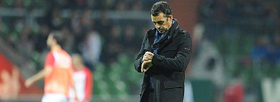 Enttäuscht: Bremens Coach Robin Dutt.