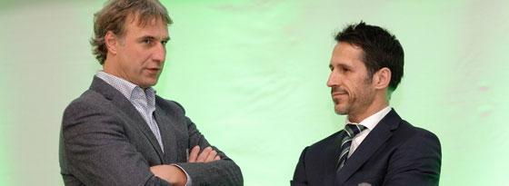 Aufsichtsratsvorsitzender und Geschäftsführer des SV Werder: Marco Bode (li.) und Thomas Eichin.