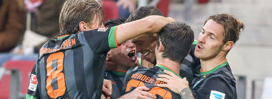 Werder beglückt, di Santo erdrückt: Der Argentinier machte einen Doppelpack.