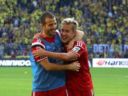 """""""Wir wollen beide erfolgreich f�r den HSV Fu�ball spielen"""": Lewis Holtby (re.) und Rafael van der Vaart."""