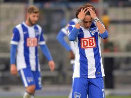 Hängende Köpfe bei der Hertha, stellvertretend Hosagai.