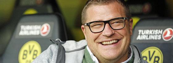 Gladbachs Sportdirektor Max Eberl hat als bester Einkäufer der Liga gut lachen.