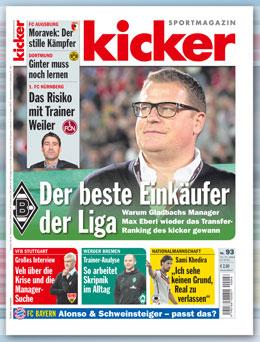 Die aktuelle Ausgabe des kicker.