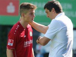 Tim Dierßen und Coach Tayfun Korkut