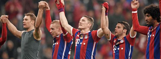 Der alte und wohl neue Meister: Der FC Bayern hat schon sieben Z�hler Vorsprung.