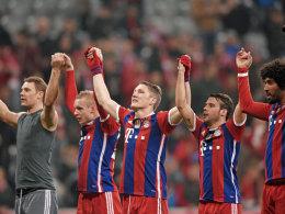 Der alte und wohl neue Meister: Der FC Bayern hat schon sieben Zähler Vorsprung.