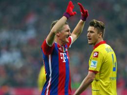 """""""Es hat mein Herz sehr ber�hrt, es ist sch�n, so empfangen zu werden"""": Bastian Schweinsteiger nach seiner Einwechslung gegen Hoffenheim."""