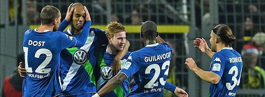 Tr�gerischer Jubel: Wolfsburg weist als Zweiter einen Rekordr�ckstand auf.