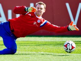 Voller Einsatz für eine erfolgreiche Rückrunde: Bayern-Torhüter Manuel Neuer.