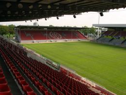 Wurde für den Test gegen Leverkusen abgeschottet: Das Bruchwegstadion in Mainz.